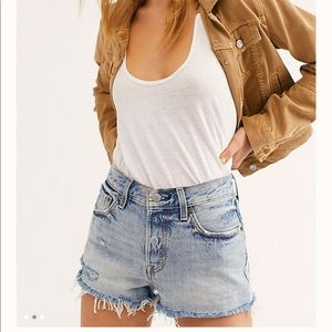 Levi's 501 Mid-Rise Button Fly Cut Off Jean Shorts